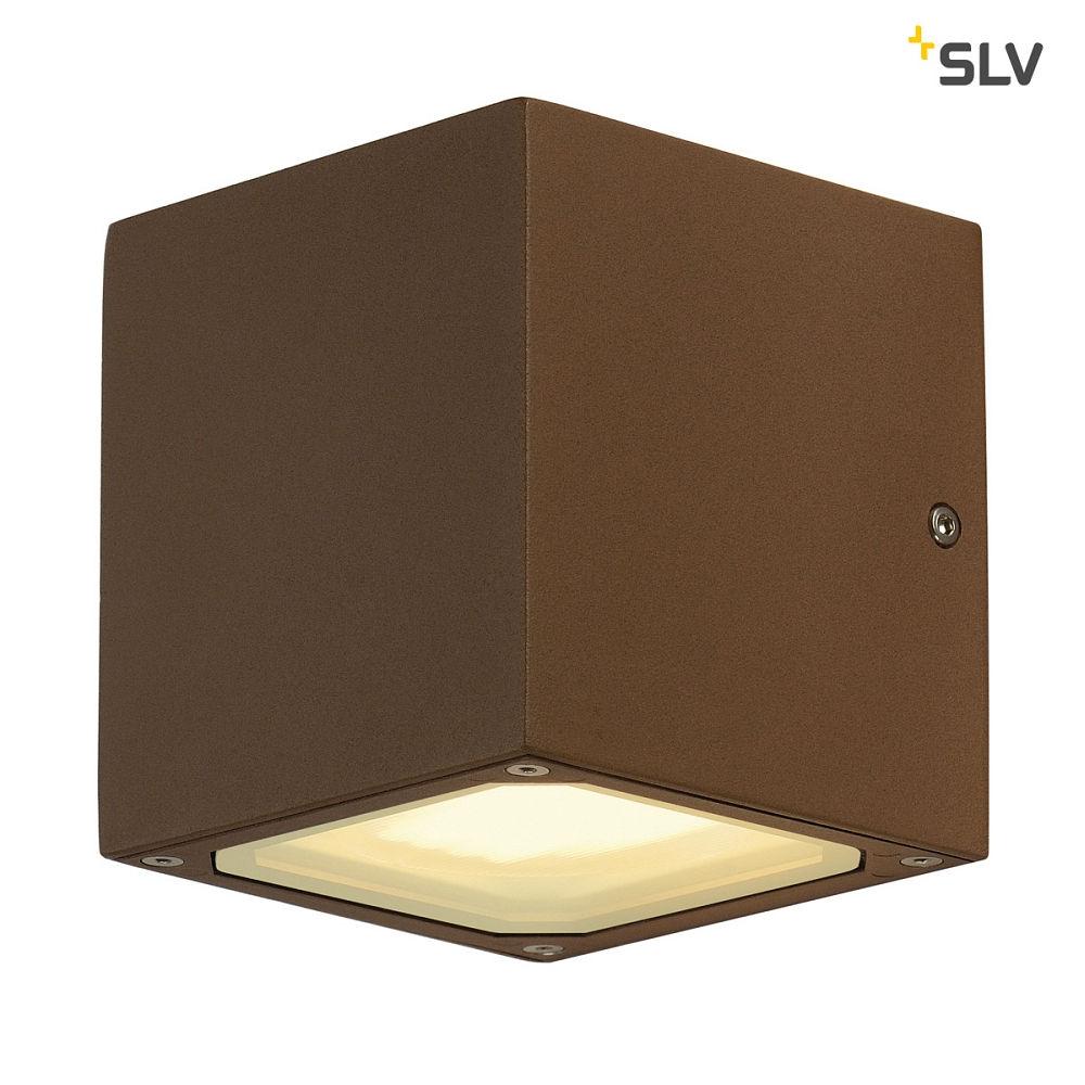 wandleuchte sitra cube w rfelf rmig gx53 rostfarben lte lichttechnik essen. Black Bedroom Furniture Sets. Home Design Ideas