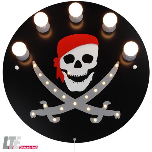 elobra deckenleuchte pirat kinderzimmerleuchte 5x e14 20. Black Bedroom Furniture Sets. Home Design Ideas